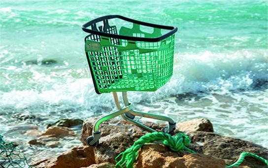 """Cestas y Carros de Compra de Plástico """"Oceanis"""""""