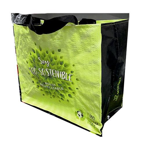 Bolsa camiseta Rafia supermercdo reutilizable con dibujo tenerife
